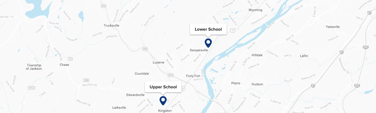 Upper and Lower School Map